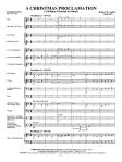 a christmas proclamation score