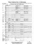 three fanfares score